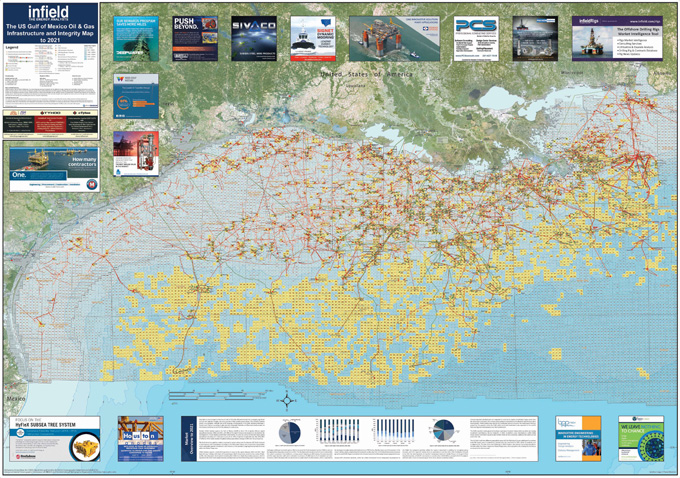 The US Gulf Of Mexico Oil Gas Infrastructure Integrity Map To - Us gulf map