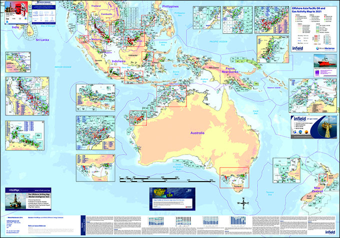 Offshore Asia Pacific Oil And Gas Activity Map To 2019