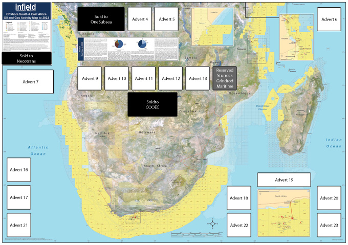 The Offs South And East Africa Oil And Gas Activity Map To 2022 Is Produced And Distributed With The Support Of Our Media Partner The South African Oil